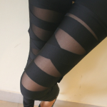 Sexy Black Bundle Pattern Leggings