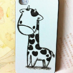 Lovely Cartoon Giraffe Cas..