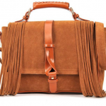 Brown Fashion Fringe Tassel HandBag